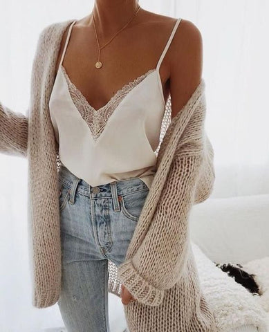 Jeans white cami