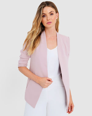 Pink Carter Collarless Blazer by Forcast
