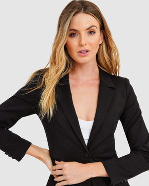 Taylor Suit Black Blazer