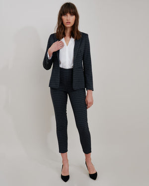 Halle Plaid Suit Pants
