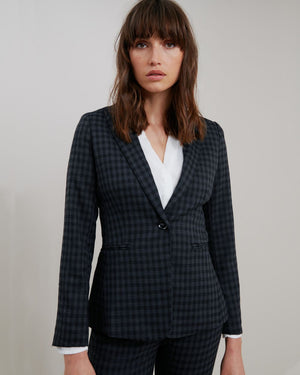 Halle Plaid Suit Blazer