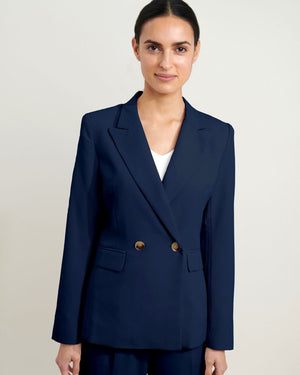 Juna Suit Double Breasted Blazer in Navy