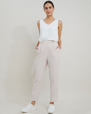 Juna Suit Tapered Slim Pants in Bone