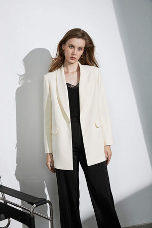 Business Essential Ivory Oversized Blazer