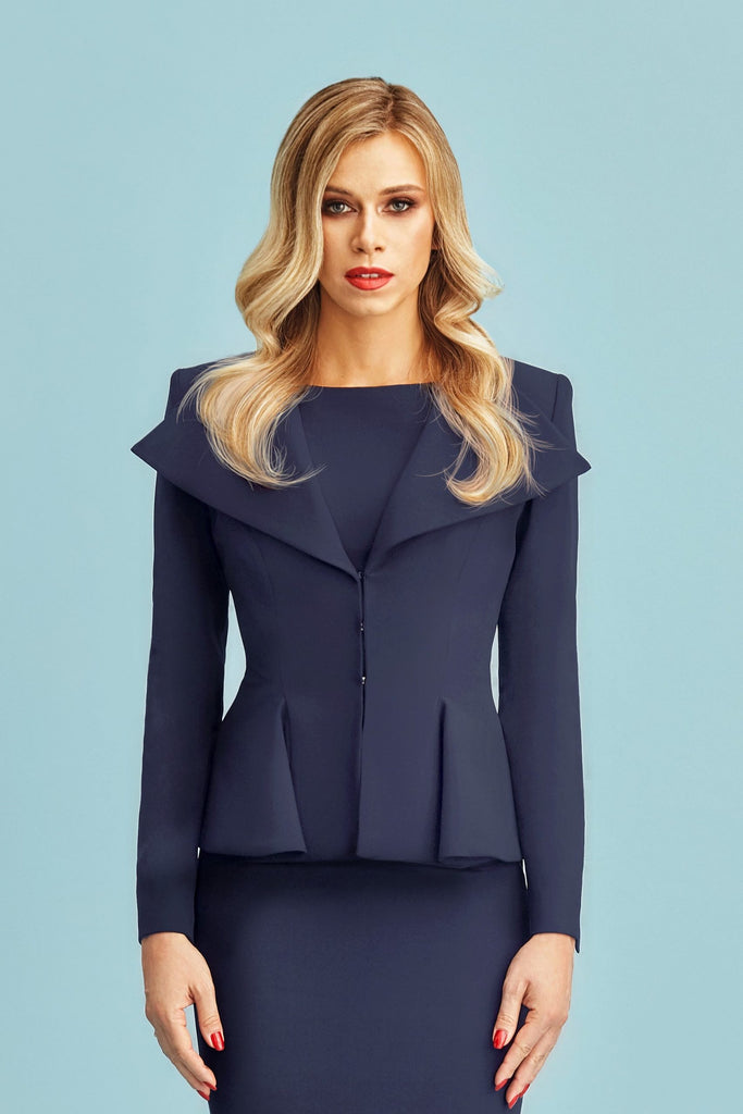 tailored blazer: Alexandra in navy