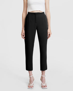 Belted Suit Black Pants