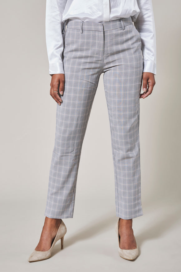 Slate grey plaid pants