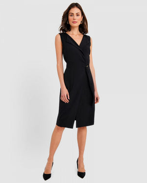 Yaritza Black Wrap Dress