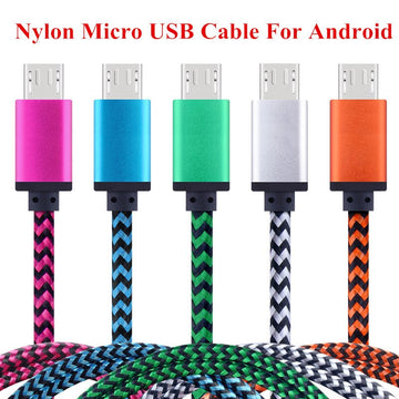 High Quality Nylon Fast Charging Data Sync Cable for Android Mobile Phone OPPO LG Micro USB Cable Tablet Charger Cable Cord