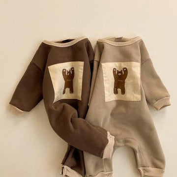 Sweatshirt Romper Baby Girls Boys Cartoon Bear