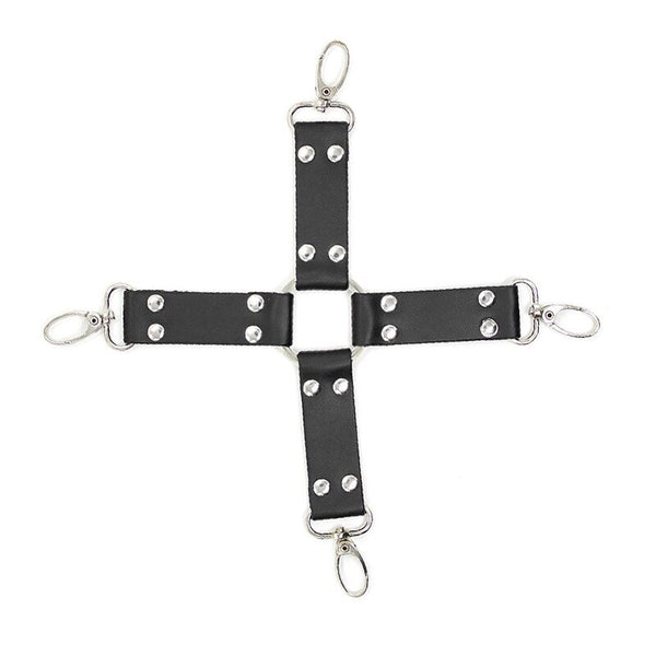 PU Leather Plush Erotic Toys for Adults BDSM Bondage Restraints Handcuffs Cross Buckle Sex   Woman Exotic Accessories