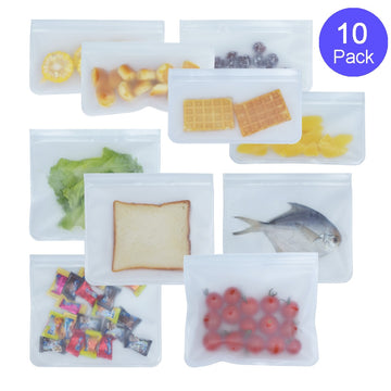 Food Storage Bag Reusable Freezer Bag PEVA Ziplock Silicone Bag Leakproof Top Kitchen Organizer