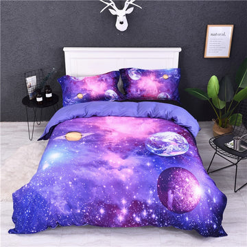 3pcs a Lot Bedding Set Fantasy Planet