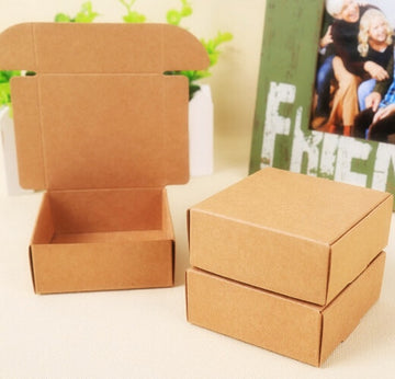 100Pcs Wholesale Kraft Paper Gift Cardboard