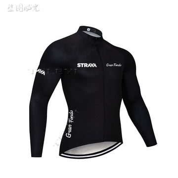 STRAVA Pro Long Sleeve Top Cycling Jersey