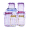 5Pcs Seal Reusable Mason Jar Bottles Bags Food Container Zipper Bags Food Storage Organizer Ziplock Bags Kitchen Organizer