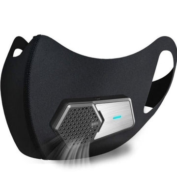 1 Set Intelligent Electric Mouth Mask Anti-Smog PM2.5 Foam Dust Sports Protection Air Supply Face Mask