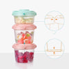 Portable Food Box Baby Feeding Milk Powder Dispenser Container Cartoon Bear Three Lattice Compartment Infant Food Storage Store