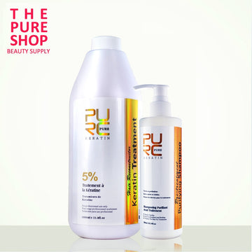 1000ml 5% Formalin Keratin & 300ml Purifying Shampoo Brazilian Keratin Hair Treatment