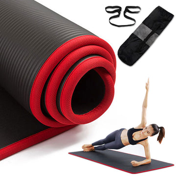 10mm Non-Slip Yoga Mat 183cm*61cm Thickened NBR Gym Mats