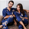 Couple Silk Satin Pajamas