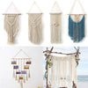 Macrame Wall Art Handmade Cotton Wall Hanging Tapestry With Lace