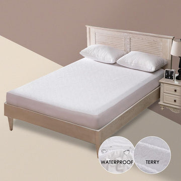 Terry Waterproof Mattress Cover Anti-Mite Breathable Hypoallergenic Bed Protection Pad Mattress Protector Bed Bug Suit 1 PC
