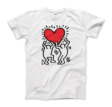 Keith Haring Men Holding Heart Icon, Street Art T-Shirt