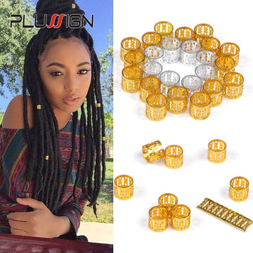 Hair Ring for Braids Hair Clips 100 Pcs Dreadlock Beads