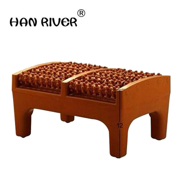 Domestic Foot Massager Foot Acupuncture Point Massage Cushion Plastic Wooden Roller Foot Massager a Foot Stool