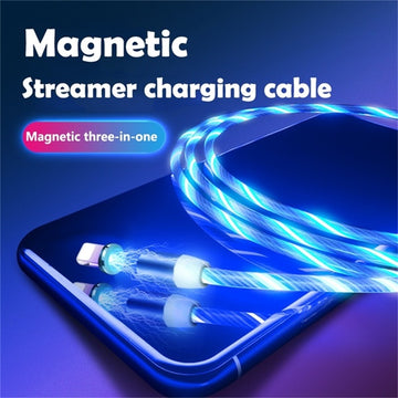1m 2m Magnetic Cable for iPhone Samsung Android Mobile Phone Fast Charging Micro USB Type C Cable Magnet Charger USB C Wire Cord