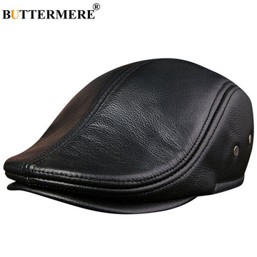 BUTTERMERE Flat Caps Men Real Leather