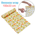 Beeswax Food Wrap Reusable Eco-Friendly Food Cover Sustainable Seal Tree Resin Plant Oils Storage Snack Wraps