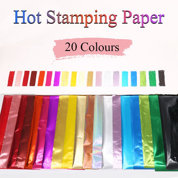 Hot Stamping Foil Paper Glitter Wrapping Paper Foil Quill 20pcs for DIY Art Craft Scrapbook Christmas Gift, Laminating Foil