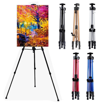 Art Drawing Hand Crank Aluminum Alloy Easel Retractable Metal Sketch Easel