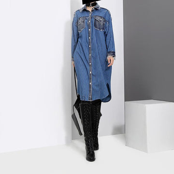 Britnee Denim Shirt Dress