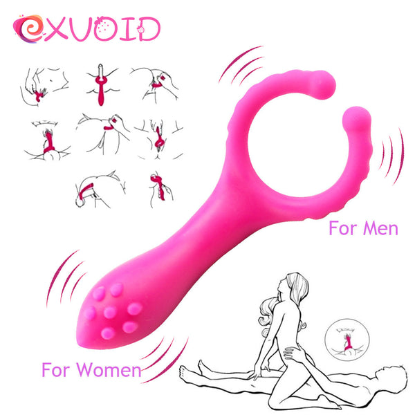 EXVOID Penis Vibration Clip Vibrator Sex Toy for Women Men Couple Flirting Nipple Massage G-Spot Vagina Clitoris Stimulation