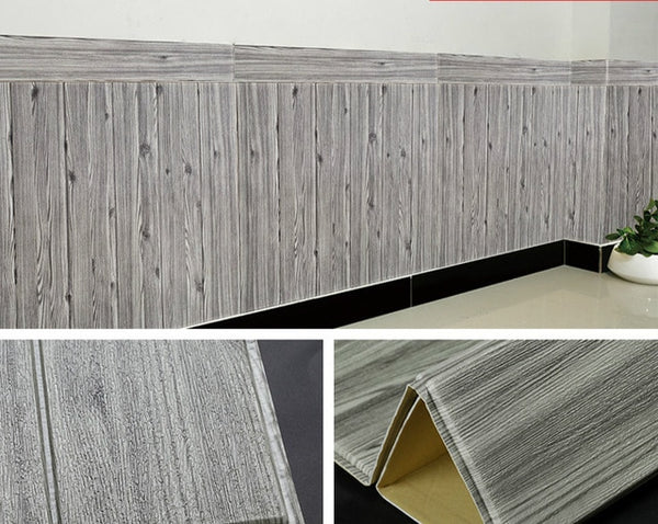 3D Wood Grain Wall Sticker