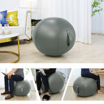 Anti-burst Yoga Ball with Leather Cover Thickened Stability Balance Ball 65CM 75CM