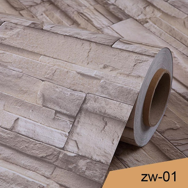 Vintage 3D Brick Pattern Wallpaper