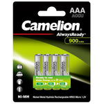 Camelion AlwaysReady Rechargeable AAA Batteries 900mAh