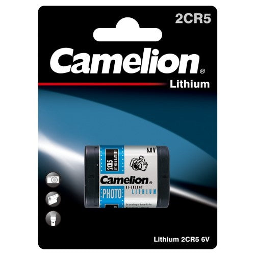 Camelion 2CR5 6V Lith Photo Battery (1 Pack)