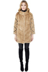 Mink Coat with Diamond Sleeve Detail