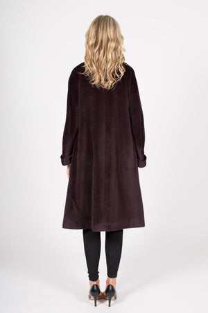 Wool and Alpaca Blend Coat with Button Closure
