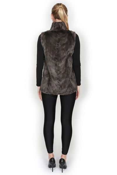 Sectioned Mink Reversible Short Vest