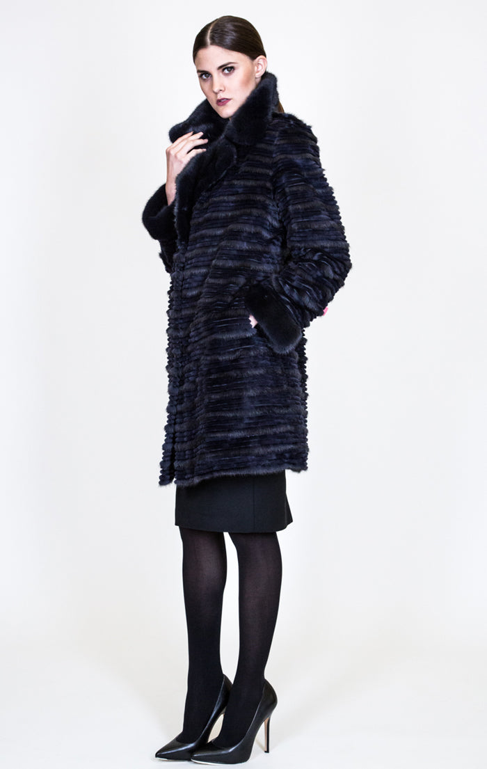 Reversible Layered Mink Coat