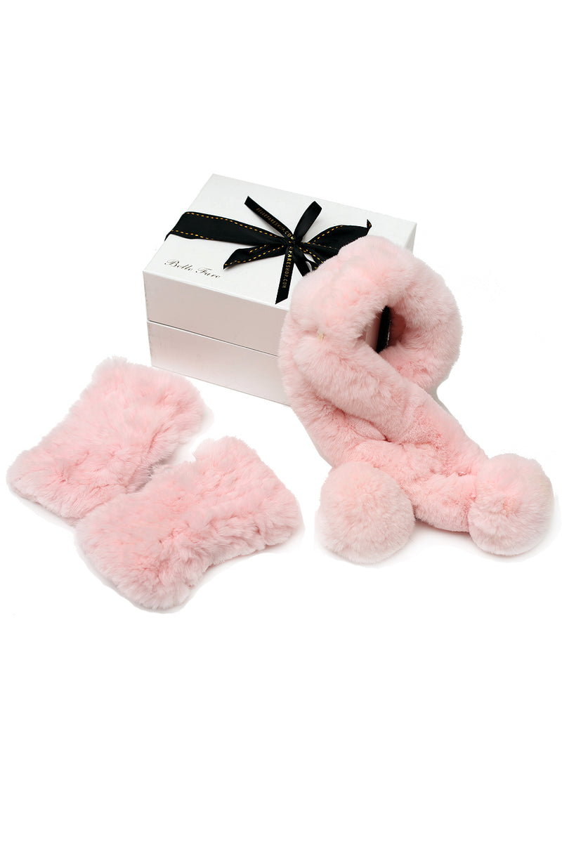 [Special] Neck Warmer and Rex Mittens - Pink