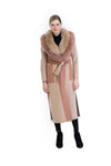 Cashmere Coat with Fox Collar