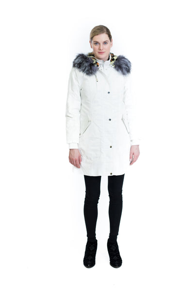 Coat with Silver Fox Trim