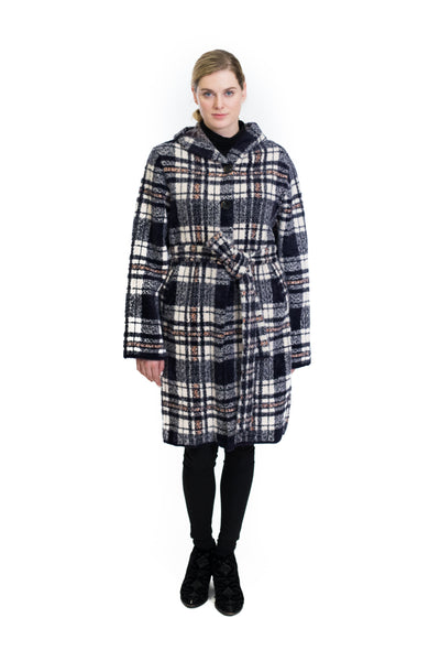 Plaid Hooded Coat